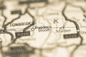 Paddock Wood skip hire map