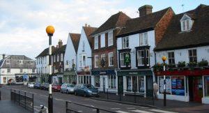 West Malling High Street in Kent